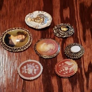 Jewelry - Cameos!! Vintage/Victorian  different brooches